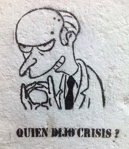 Burns ante la crisis