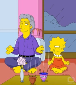 Richard Gere y Lisa Simpson