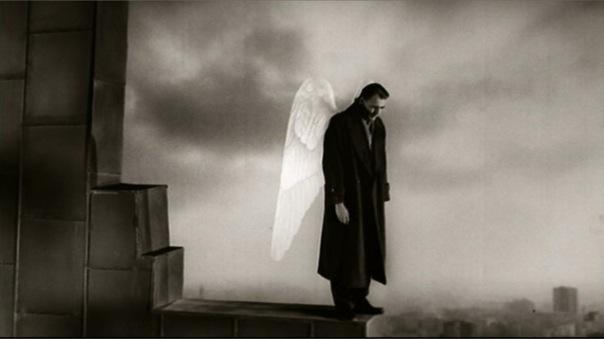 Un ángel en el cielo sobre Berlín