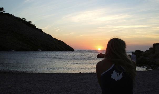 Puesta de sol en Ibiza
