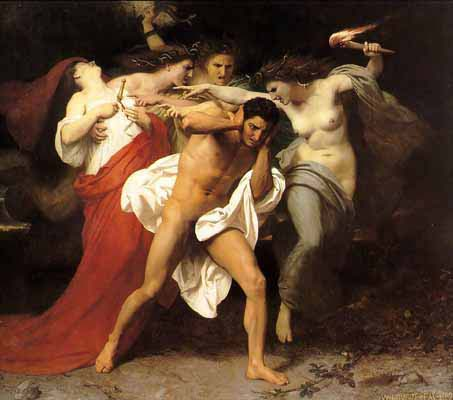 The Remorse of Orestes by William-Adolphe Bouguereau